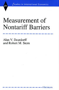 Measurement of Nontariff Barriers (Studies in International Economics) Издательство: University of Michigan Press, 1999 г Твердый переплет, 152 стр ISBN 0472109316 инфо 3409m.